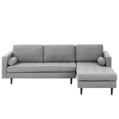 Nolan L Shaped Sofa Slate Fabric