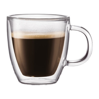 BISTRO Double Wall Mug with Handle (Set of 2)