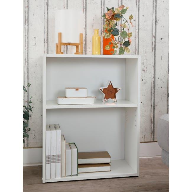 Hitoshi 2-Tier Bookshelf - White - 2