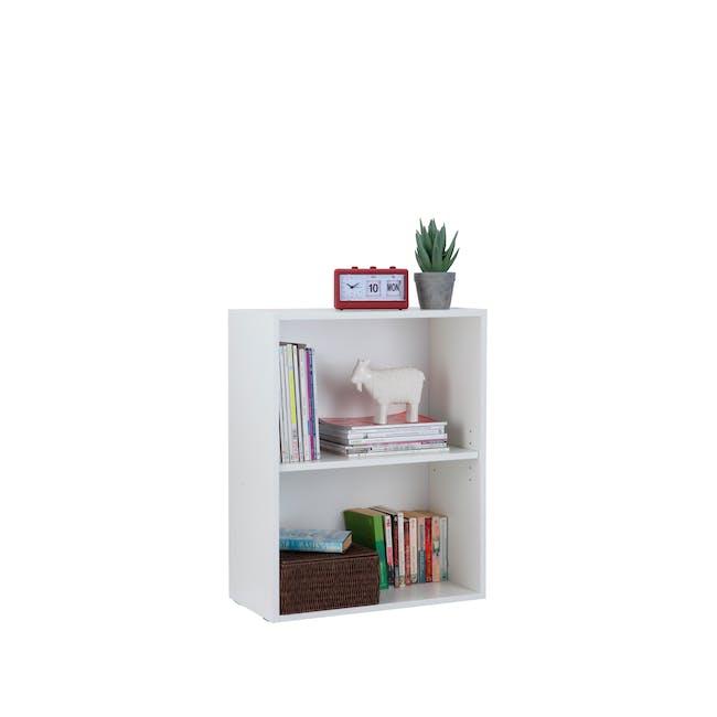 Hitoshi 2-Tier Bookshelf - White - 4