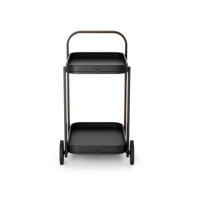 Bellwood Serving Cart - Black, Walnut - 3