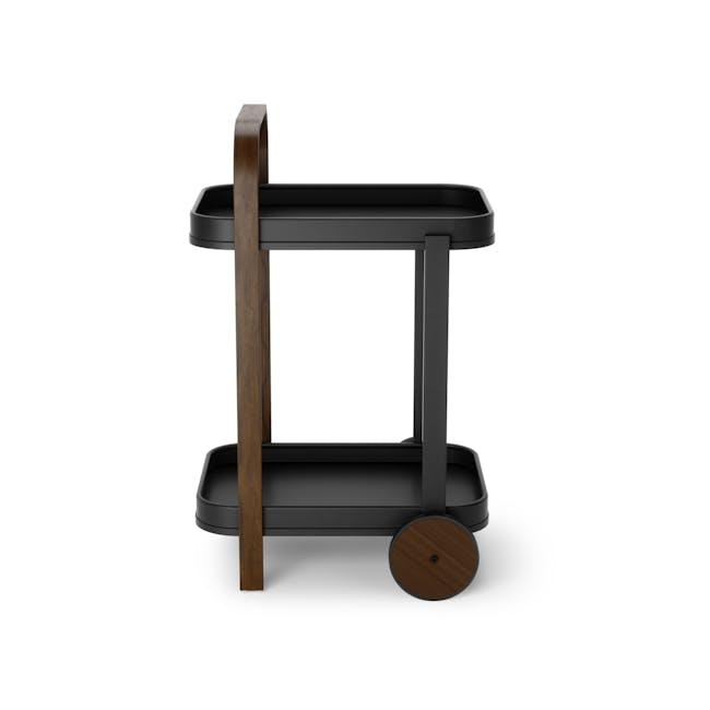 Bellwood Serving Cart - Black, Walnut - 2