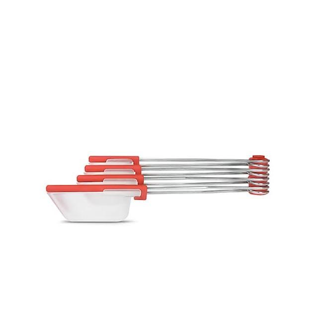Dreamfarm Levoons Scrape Level Measuring Spoons - Red - 0