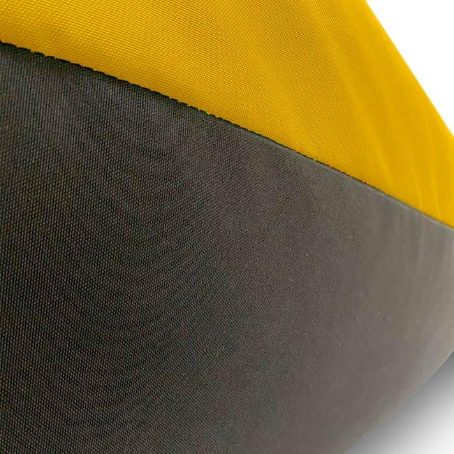 Splash Waterproof Outdoor Triangle Bean Bag - Yellow - 5