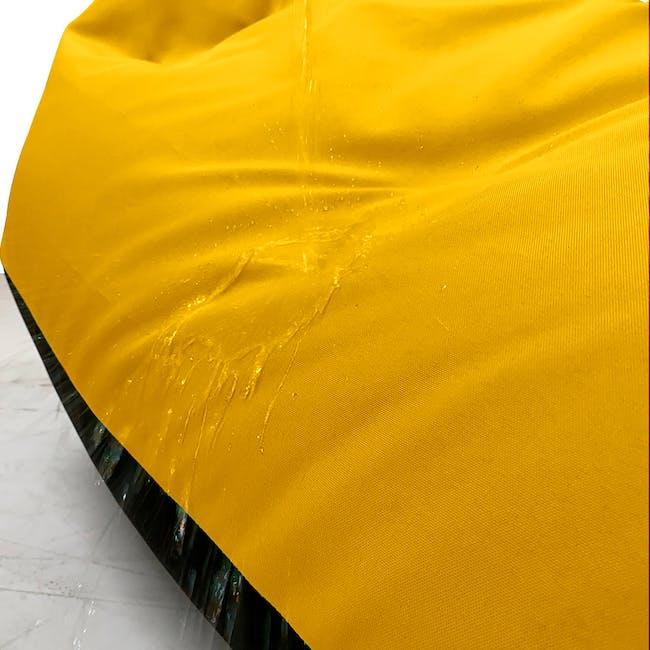 Splash Waterproof Outdoor Triangle Bean Bag - Yellow - 1