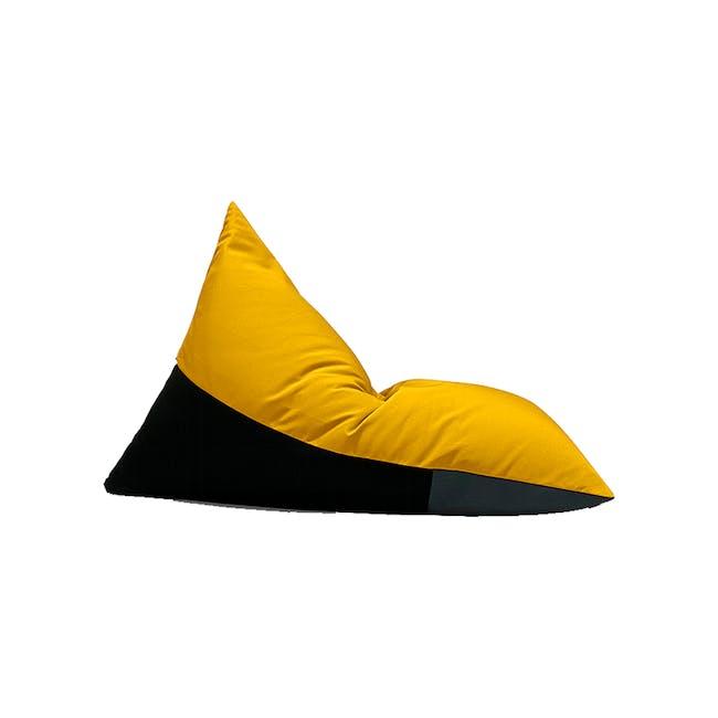 Splash Waterproof Outdoor Triangle Bean Bag - Yellow - 6
