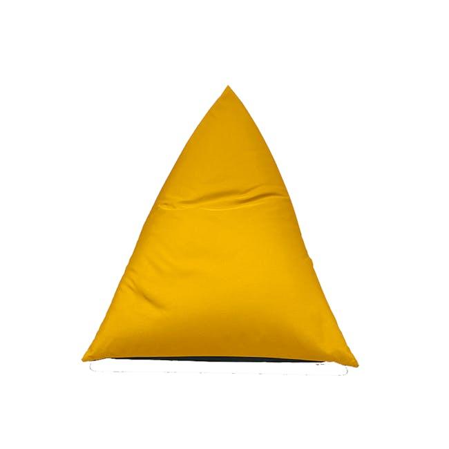 Splash Waterproof Outdoor Triangle Bean Bag - Yellow - 7