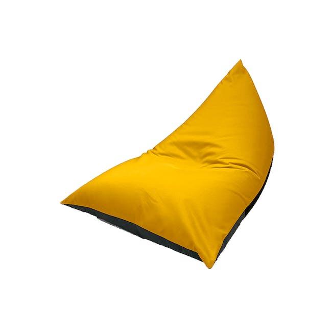 Splash Waterproof Outdoor Triangle Bean Bag - Yellow - 8