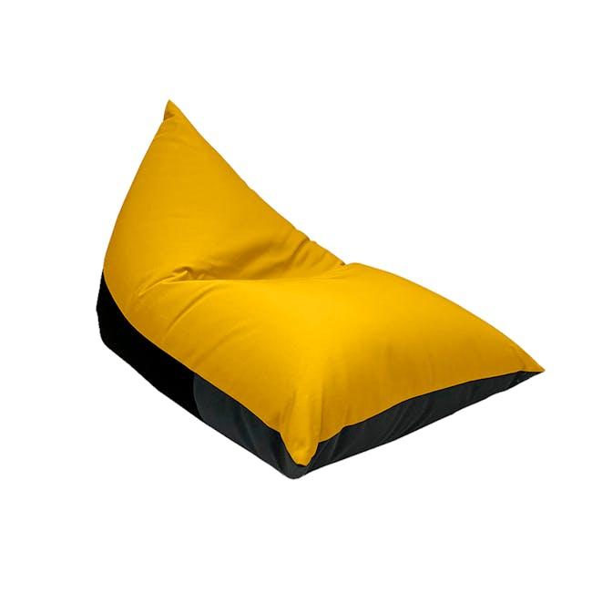 Splash Waterproof Outdoor Triangle Bean Bag - Yellow - 0