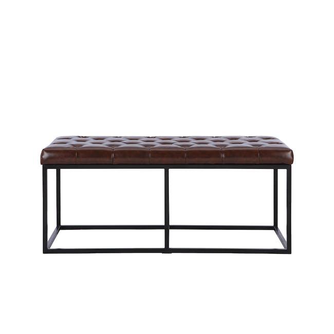 Bernard Bench 1.1m - Brown (Faux Leather) - 0