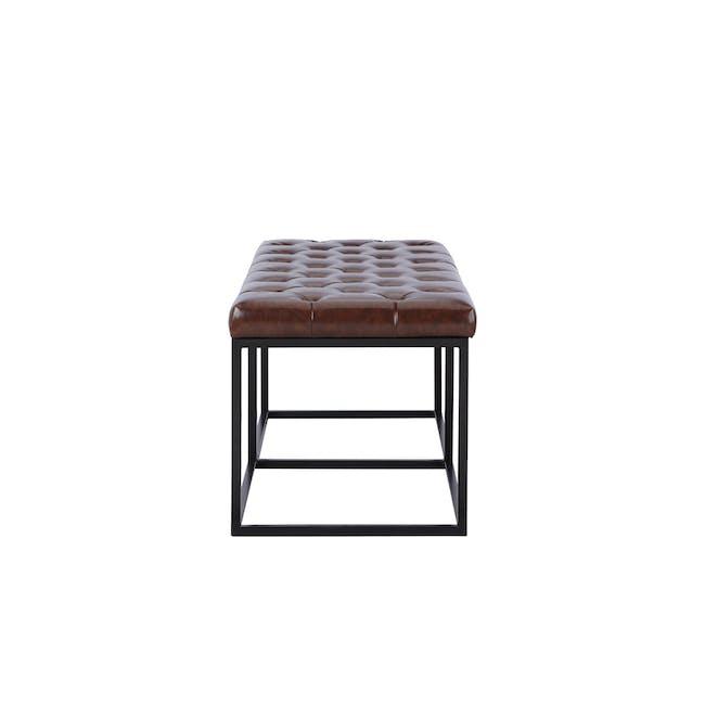 Bernard Bench 1.1m - Brown (Faux Leather) - 4