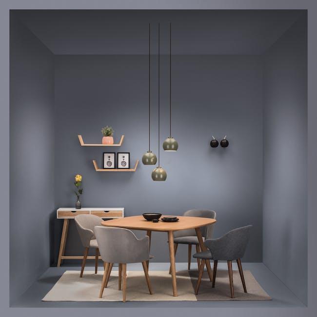 Runa Dining Armchair - Oak, Dolphin Grey - 2