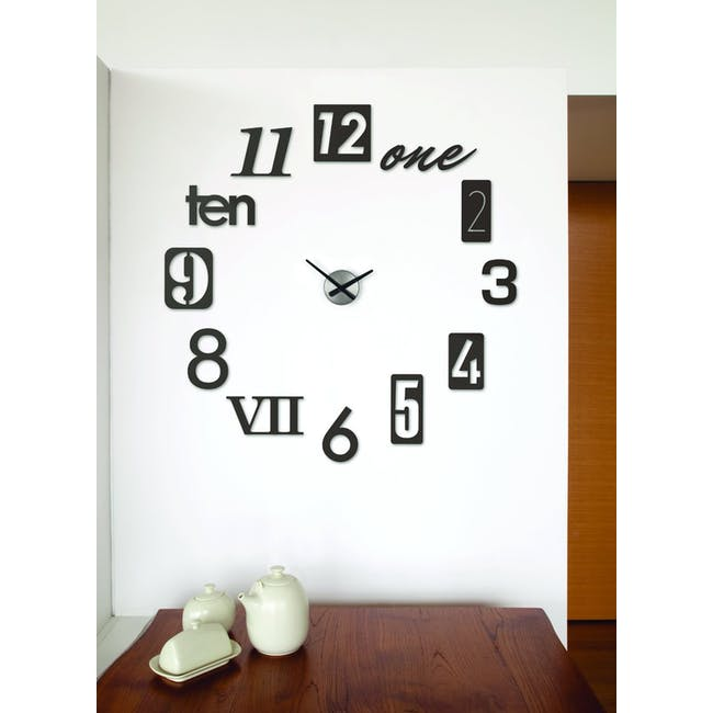 Numbra Wall Clock - Black - 2