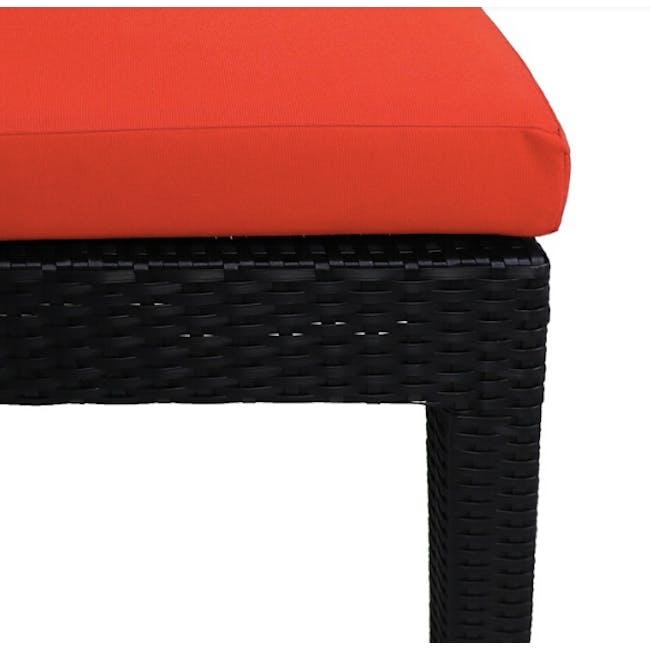 Wikiki Sunbed - Orange Cushion - 5