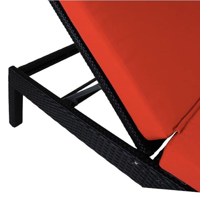 Wikiki Sunbed - Orange Cushion - 4