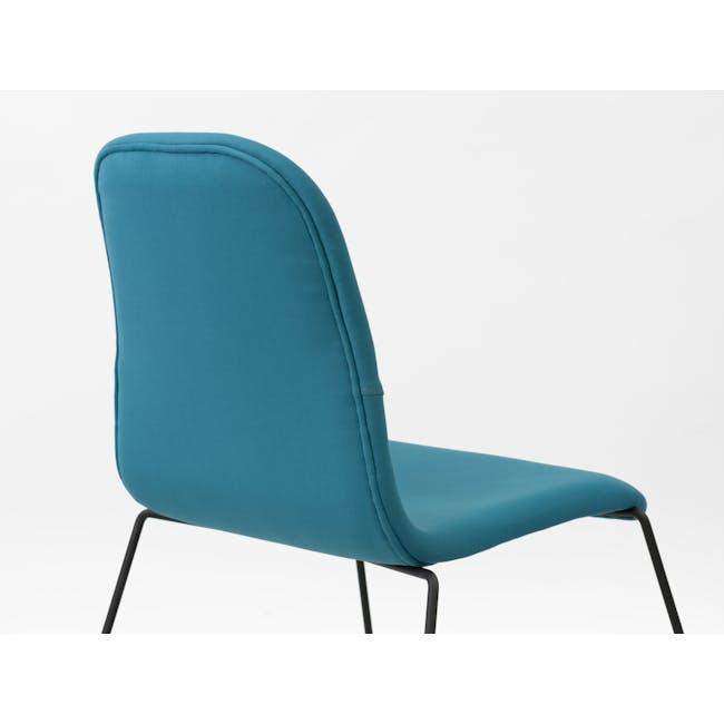 Ava Dining Chair - Matt Black, Emerald - 1
