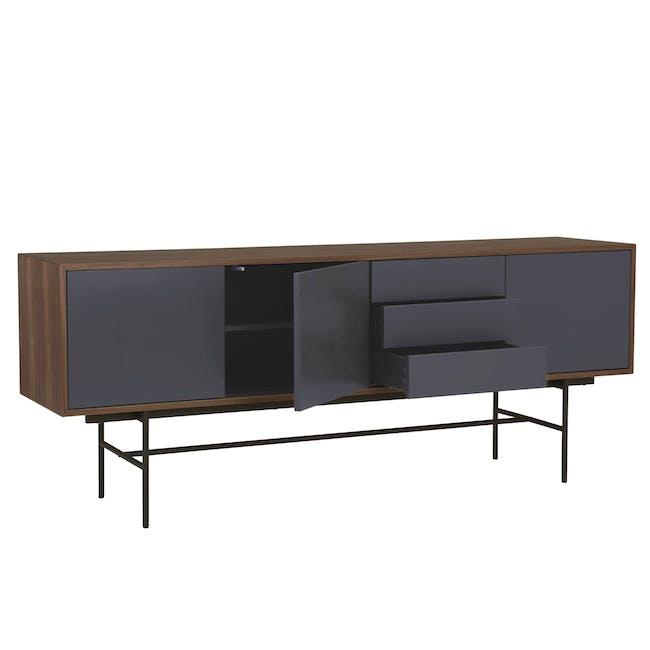 Bacchus Sideboard 2m - Walnut, Grey - 1