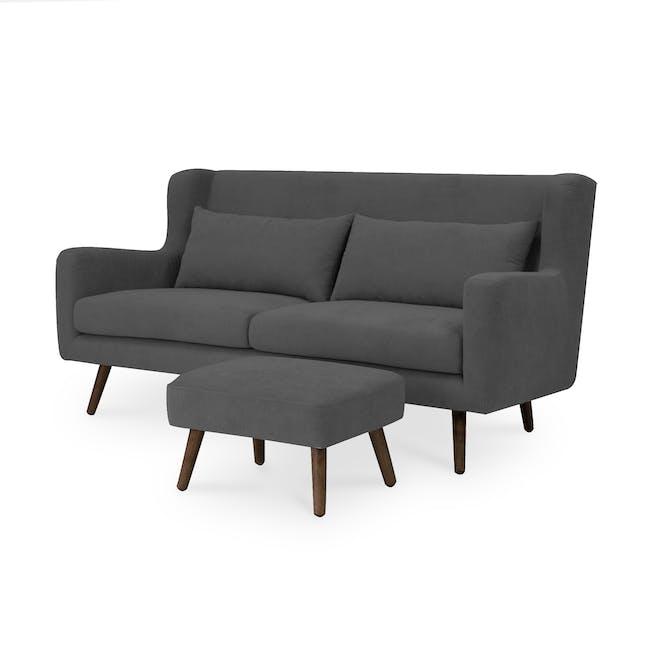Luke 3 Seater Sofa - Onyx Grey - 2