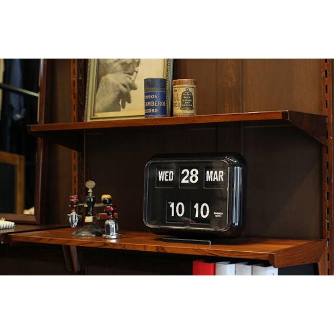 TWEMCO Big Calendar Flip Wall Clock - Black - 1