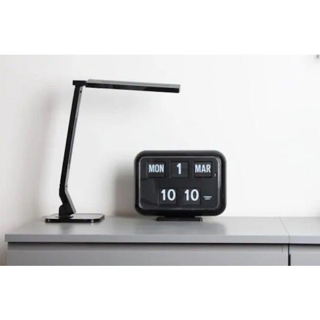 TWEMCO Big Calendar Flip Wall Clock - Black - 3