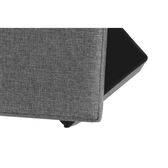 Domo Foldable Storage Bench Ottoman - Grey - 2