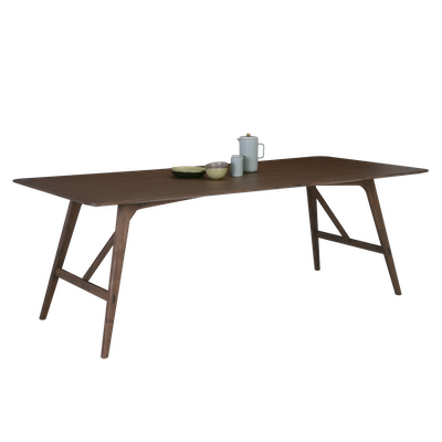 Fidel Dining Table 2.2m - Walnut - Image 1