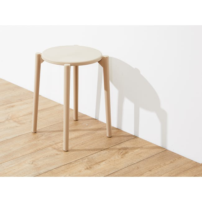 Olly Stackable Stool - Taupe - 1