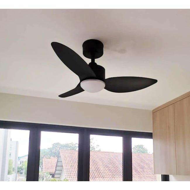 F1FC Black Decor Fan (3 Sizes) - 1