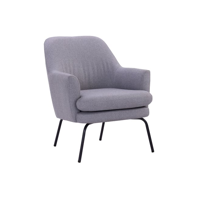 Lucian Lounge Chair - Pewter Grey (Fabric) - 1