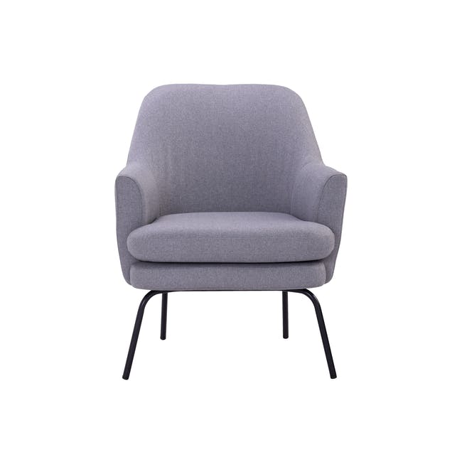 Lucian Lounge Chair - Pewter Grey (Fabric) - 0