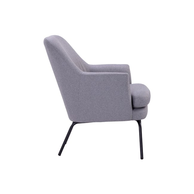 Lucian Lounge Chair - Pewter Grey (Fabric) - 3