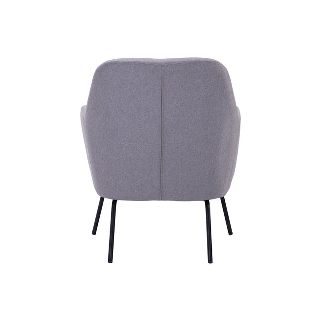 Lucian Lounge Chair - Pewter Grey (Fabric) - 4