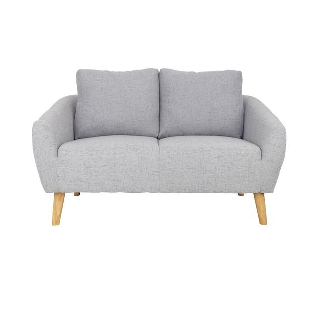 Hana 2 Seater Sofa with Hana Armchair - Light Grey - 11