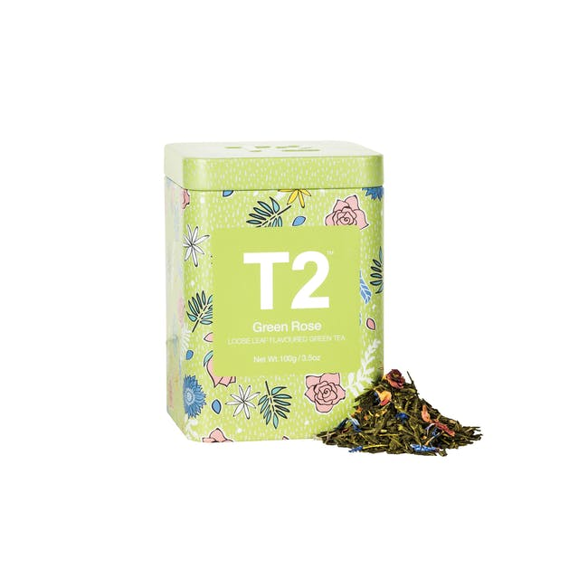 T2 Icon Tins - Green Rose (2 Options) - 0