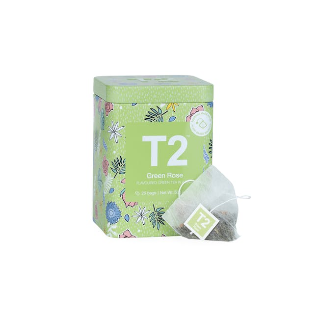 T2 Icon Tins - Green Rose (2 Options) - 1