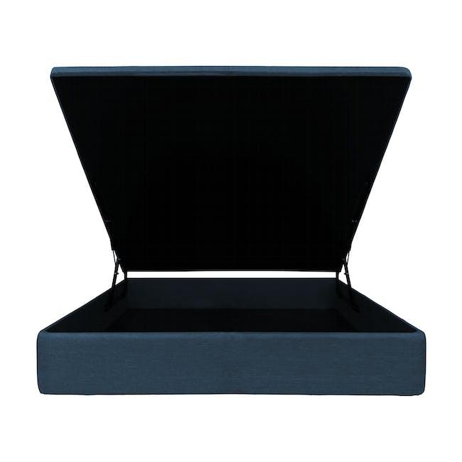 ESSENTIALS Single Storage Bed - Denim (Fabric) - 1