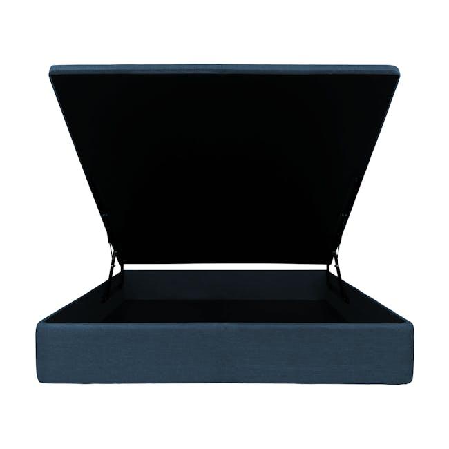 ESSENTIALS Super Single Storage Bed - Denim (Fabric) - 1
