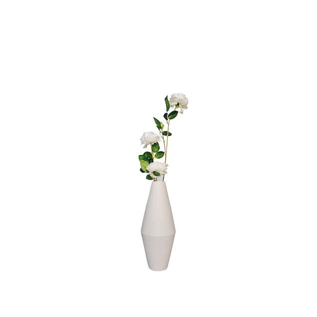Diamond Floral Clay Vase - Design 2 - 0