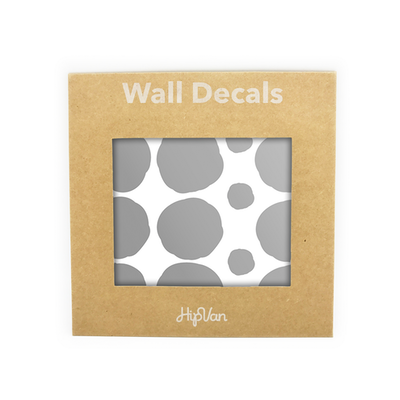 Polka Dot Wall Decal Pack (Pack of 54) - Silver - Image 1