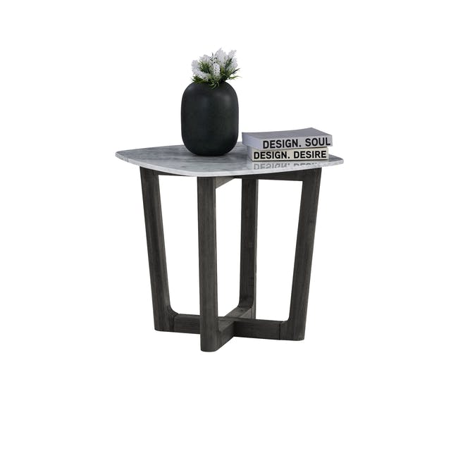Carson Marble Coffee Table with Carson Marble Side Table - 7