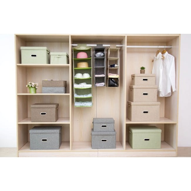 Leonard Fabric Storage Box - Light Grey - Large - 1
