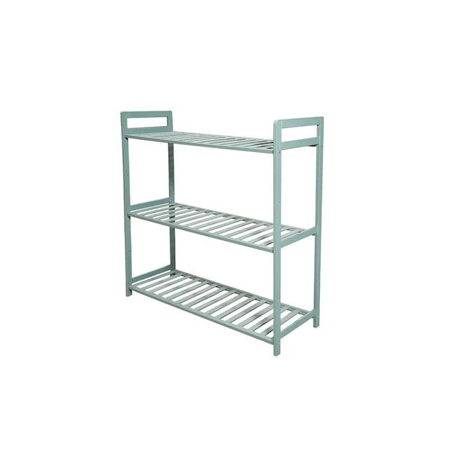 Ecohouze 3 Tier Bamboo Storage Shelf - Green (2 Sizes) - 1