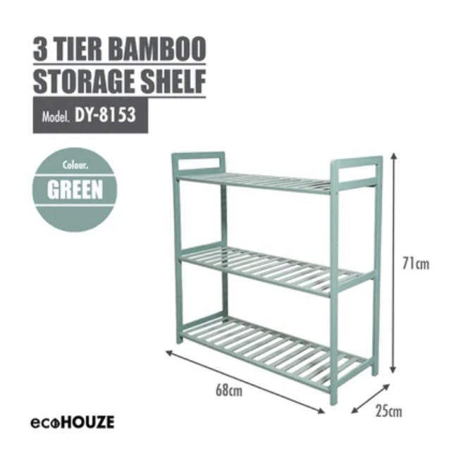 Ecohouze 3 Tier Bamboo Storage Shelf - Green (2 Sizes) - 3
