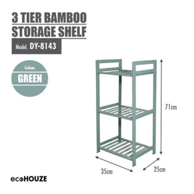 Ecohouze 3 Tier Bamboo Storage Shelf - Green (2 Sizes) - 2