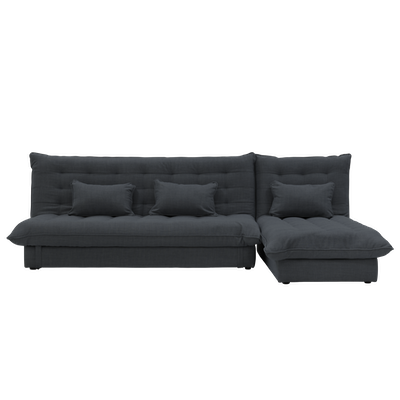 Tessa L Shape Storage Sofa Bed - Granite - Image 1