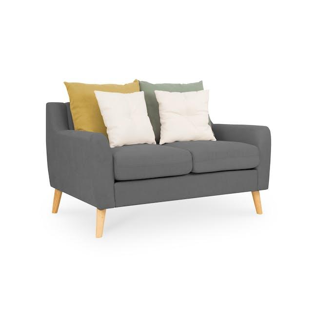 Evan 3 Seater Sofa with Evan 2 Seater Sofa - Charcoal Grey - 7