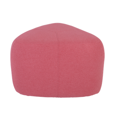 Cirrus High Triangle Pouf - Indian Red - Image 1