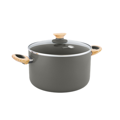 GreenPan Wood-Be 20cm Induction Covered Casserole - Image 1