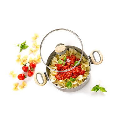 GreenPan Wood-Be 20cm Induction Covered Casserole - Image 2