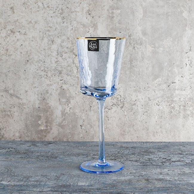 Table Matters Tsuchi Wine Glass 350ml - Blue - 1